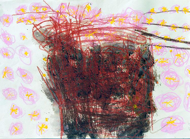 「桜がきれいに咲いたの」5歳女児